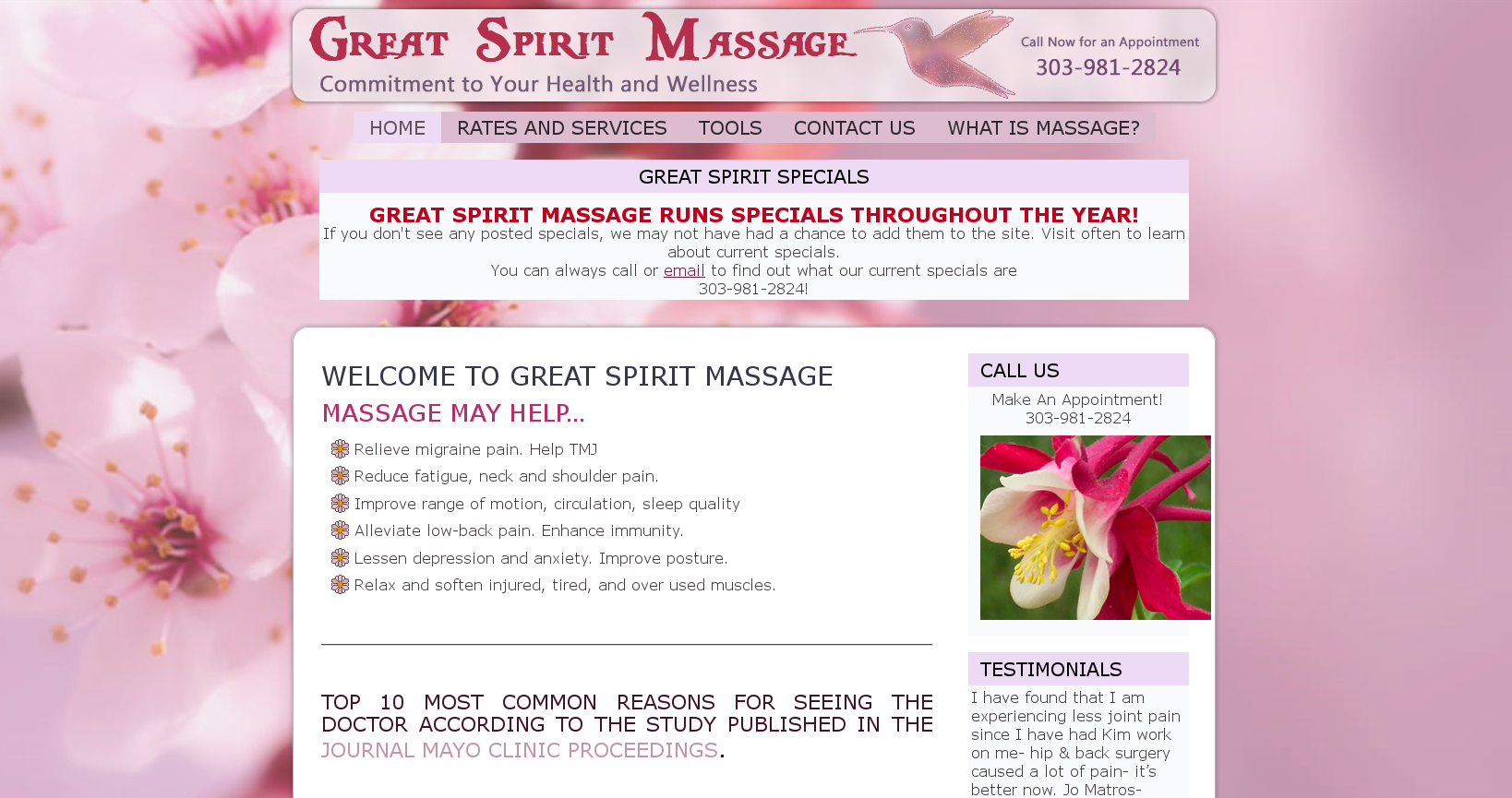Great Spirit Massage
